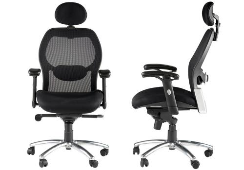 Alphason - Portland Synchro Black Mesh Back Executive Chair
