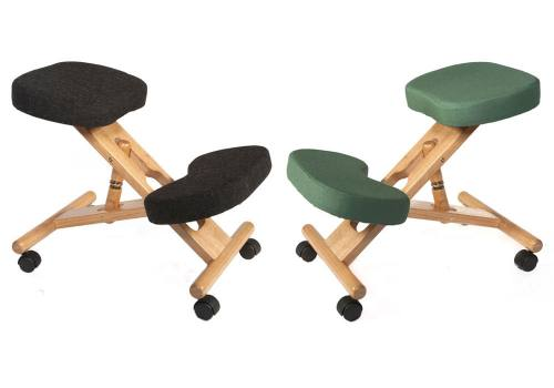 Teknik Office - Wooden Kneeling Chair : Charcoal Seat & Kneeling Pad