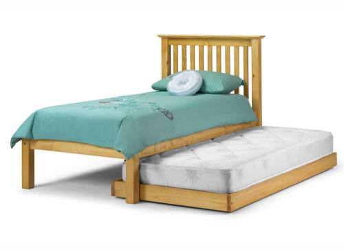 Julian Bowen Barcelona Pine Hideaway Bed Pull Out Guest Bed Package Wit