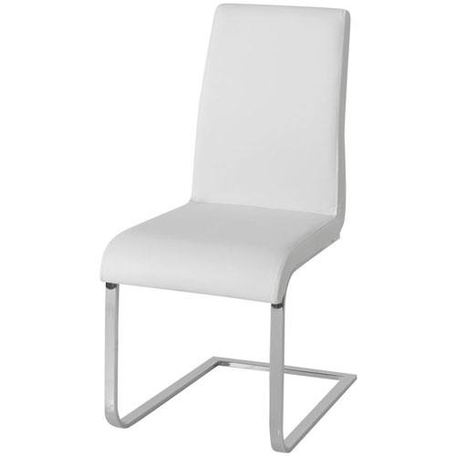 cream dining chairs chrome legs collections