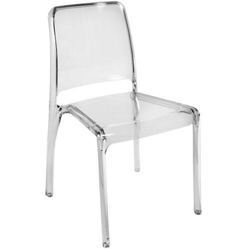 Teknik Office Clarity Translucent Plastic Chairs Dining