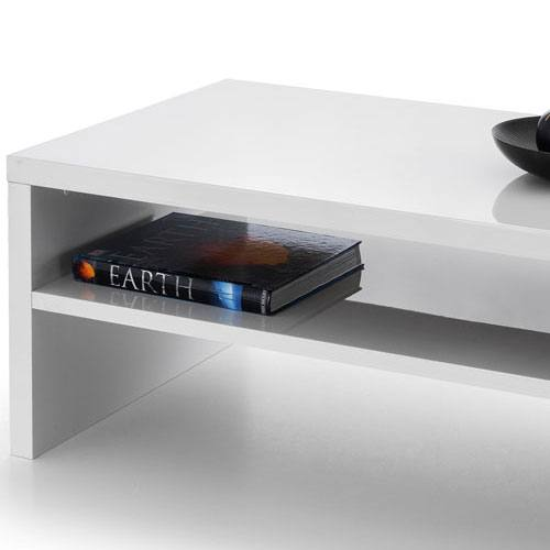 Metro High Gloss Coffee Table White: Metro Occasional Tables