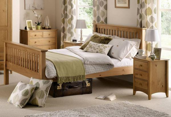 Julian Bowen - Barcelona Pine Single Bed - High Foot  End