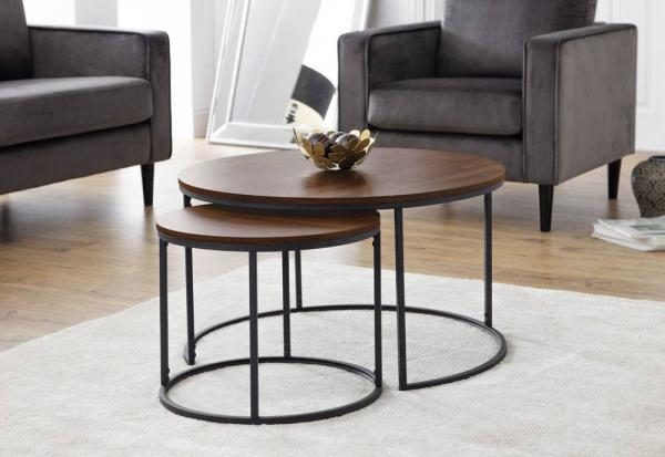 Julian Bowen - Bellini Round Nesting Coffee Table