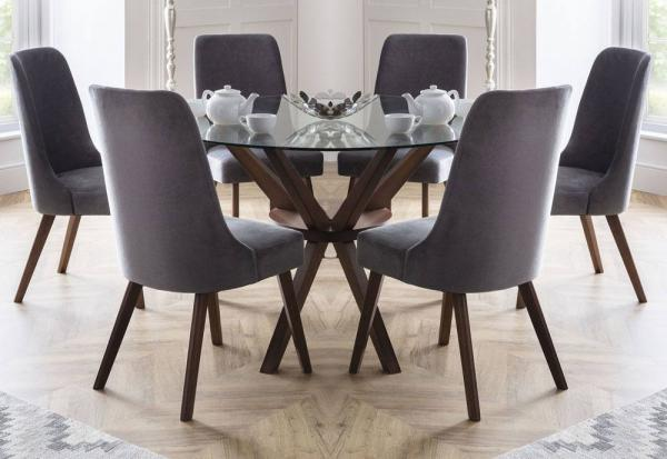 Julian Bowen - Chelsea Dining Table with Huxley Dining Chairs
