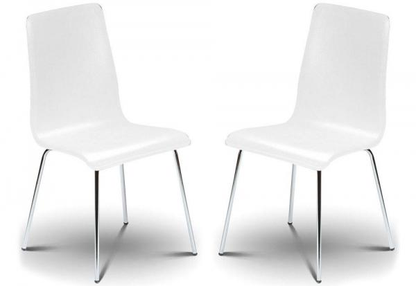 Julian Bowen - Mandy White Chairs - Set of 4