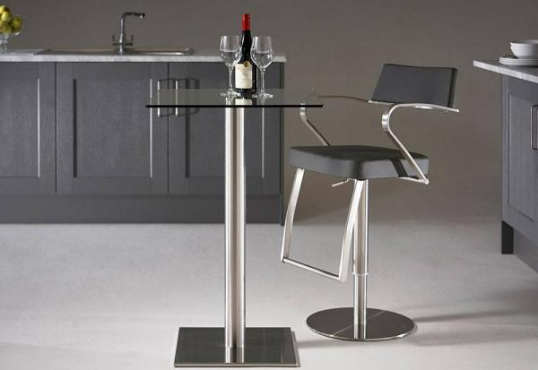 HND - Helsinki Square Bar Stool Tables - 60cm Dia