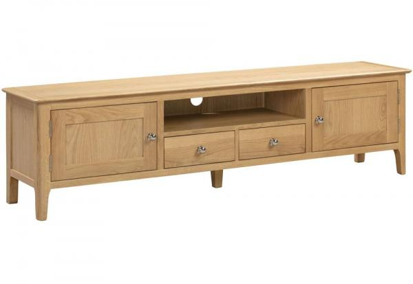 Julian Bowen - Cotswold Oak Widescreen TV Unit
