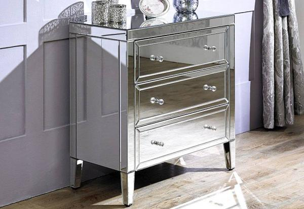 Birlea Furniture - Valencia Mirrored 3 Drawer Chest