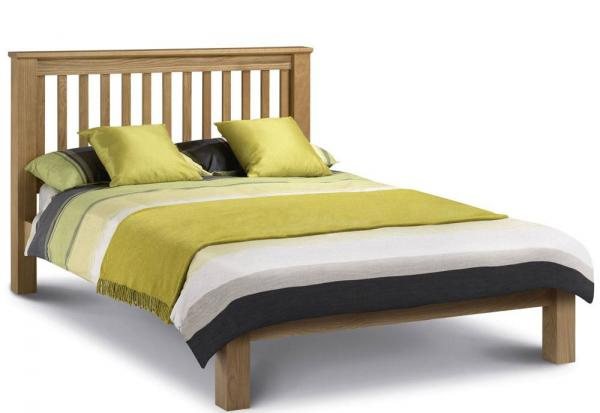 Julian Bowen - Amsterdam Oak Kingsize Bed - Low Foot End
