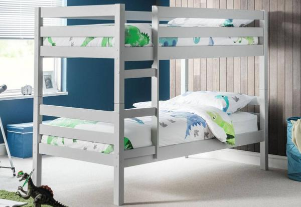 Julian Bowen - Camden Dove Grey Bunk Bed with Mattresses - Package