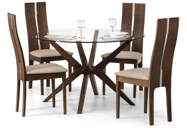 Julian Bowen - Chelsea Dining Table with Cayman Dining Chairs