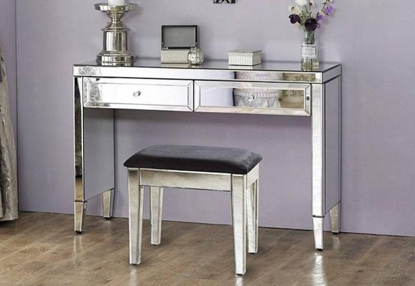 Birlea Furniture - Valencia 2 Drawer Sideboard & Dressing Stool - Package