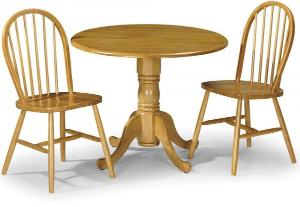 Julian Bowen - Dundee Folding Table & 2 Windsor Dining Chairs