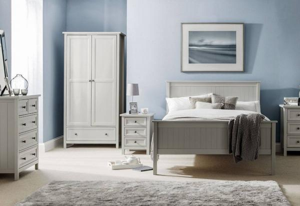 Julian Bowen - Maine Grey 3 Door Combination Wardrobe