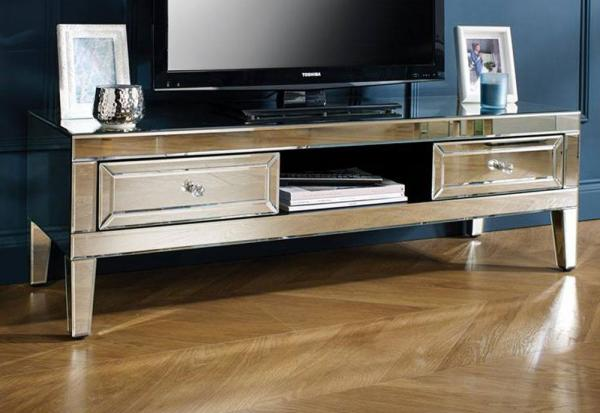 Birlea Furniture - Valencia Mirrored TV Cabinet