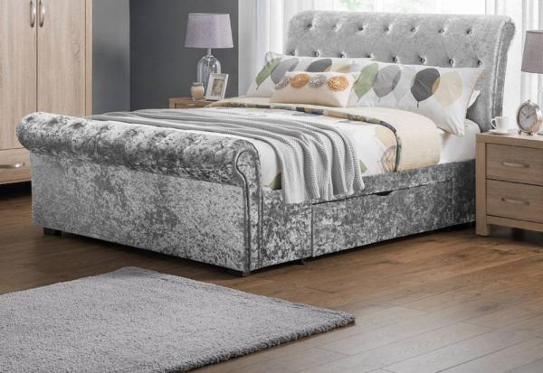 Julian Bowen - Verona Kingsize Storage Bed Includes Elite 1000 Pocket Mattress