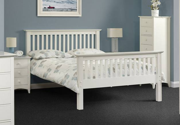 Julian Bowen Barcelona White Shaker Style Beds Single