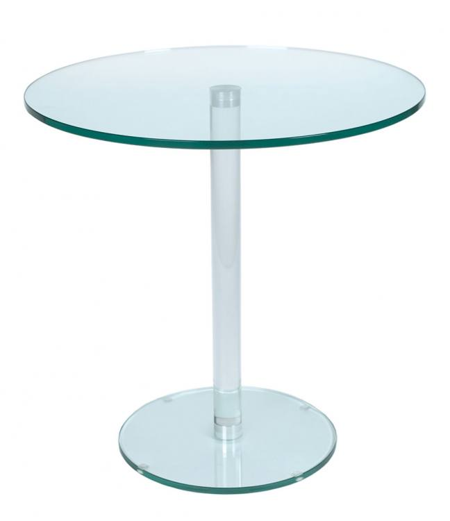 Greenapple furniture round table with glass stem - Glass side tables for living room uk ...
