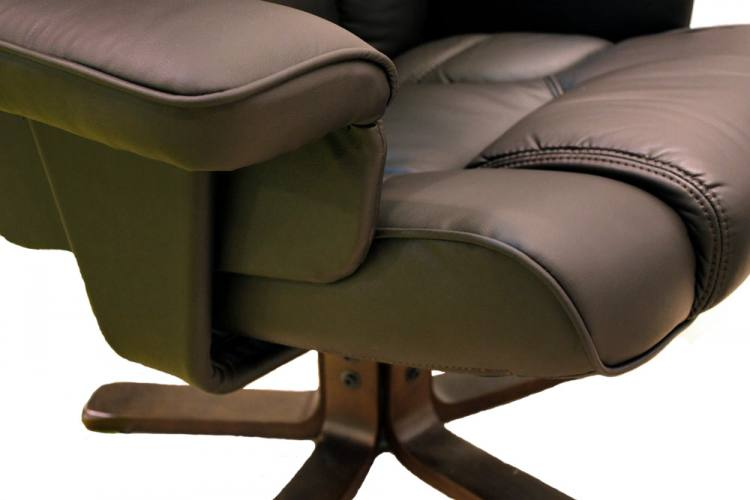 Comfort Upholstery. Julian Bowen - Malmo Swivel Recliner Chair u0026 Footstool ...  sc 1 st  Sofa and Home & Julian Bowen - Malmo Fully Adjustable Swivel Recliner Chair ... islam-shia.org