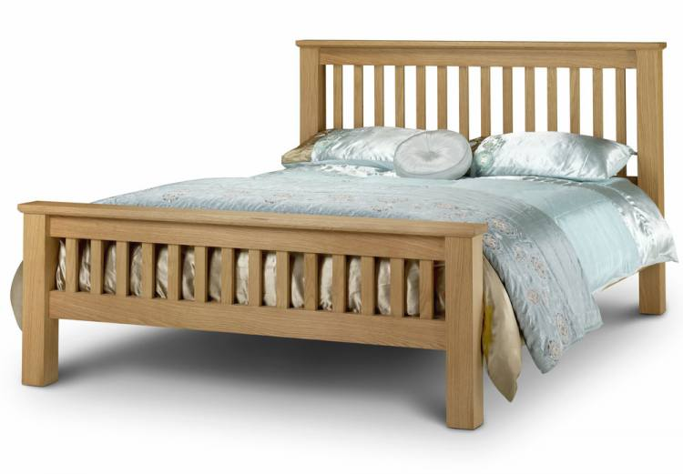 Julian Bowen Amsterdam Oak Shaker Style Bed Frames  : 750x5211320859892AmsterdamOakBed150cmmaiedited1 from www.sofaandhome.co.uk size 750 x 521 jpeg 36kB