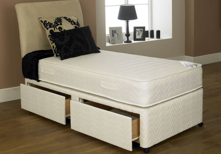 Single bed with drawers cheap wooden beds wooden king for Cheap single divan
