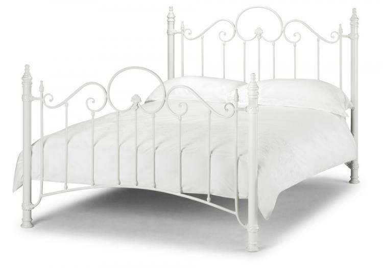 Julian Bowen Florence Stone White Wrought Iron Beds