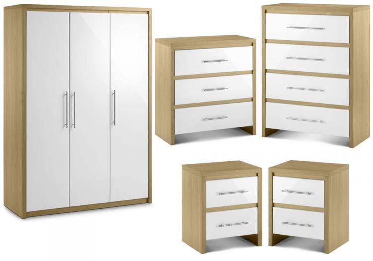 julian bowen stockholm bedroom oak white finish