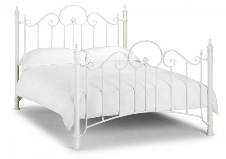 Florence White Bed Frame 750 x 527