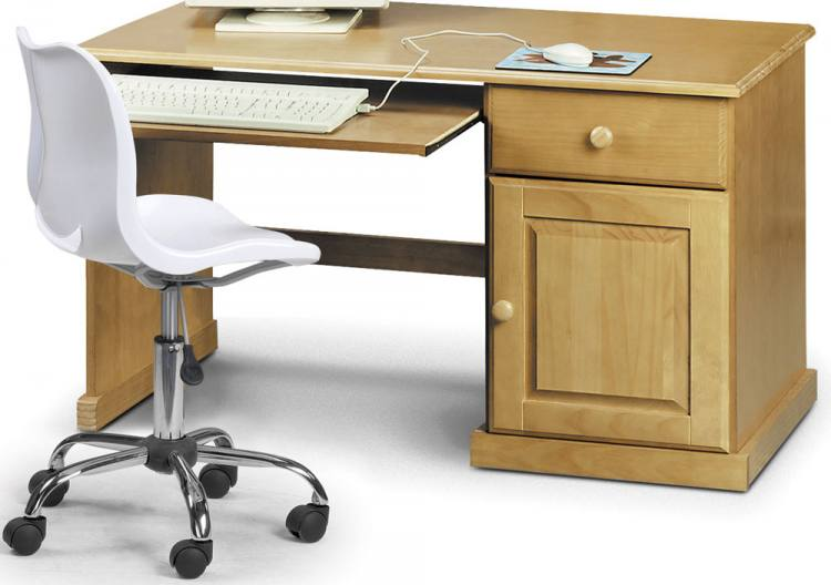 Julian Bowen Surfer Pine Study Desk amp White Swivel Chair  : 750x5281320883902SurferStudyDesk1 from www.sofaandhome.co.uk size 750 x 528 jpeg 38kB