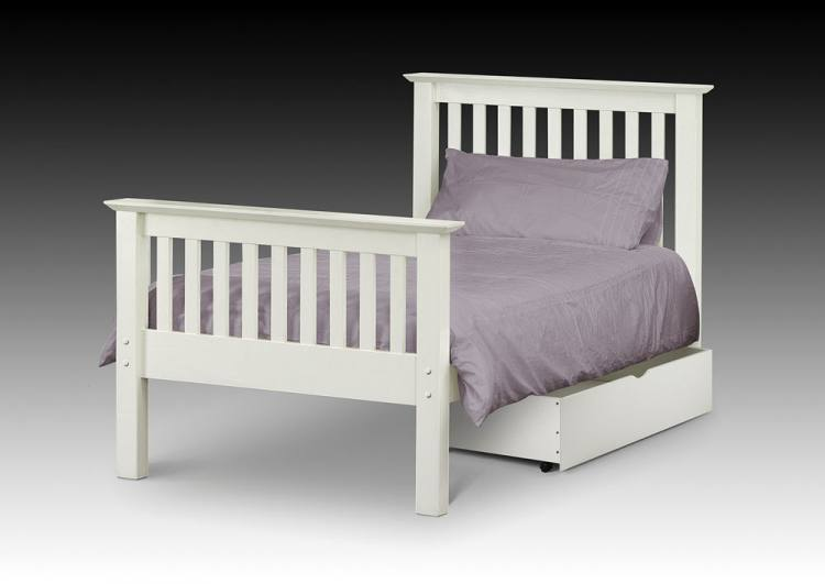 Julian Bowen - Barcelona White Shaker Style Bed Product Image