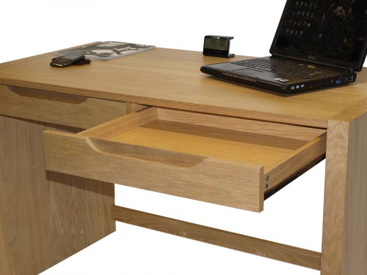 Home Office Desk - Solid Oak with Veneers - 2 Drawers | Sofa and Home
