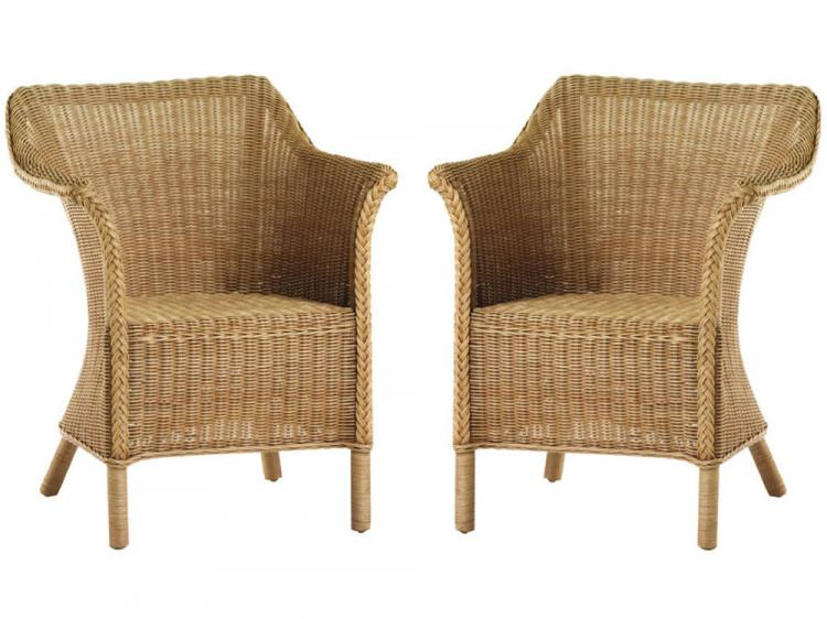 Cane Industries London Wicker Chair Natural or White