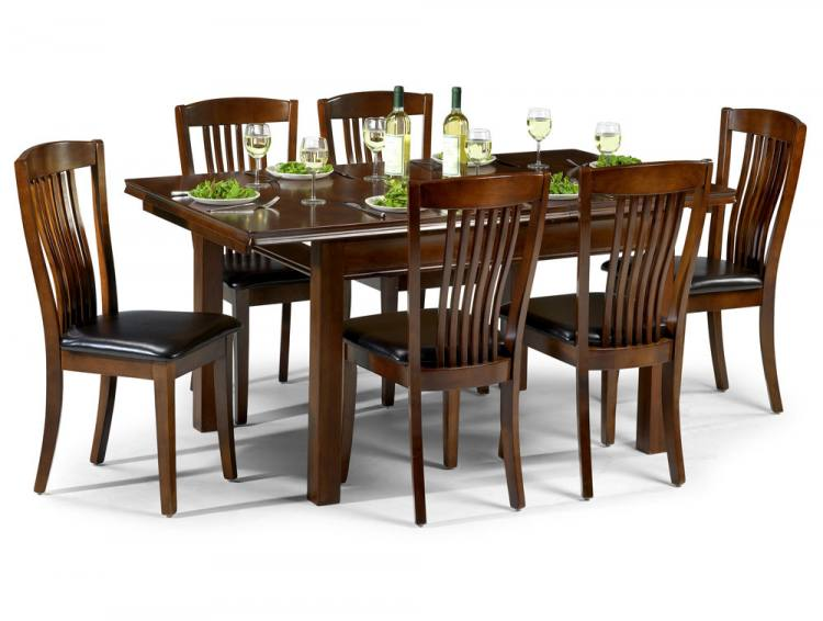 Julian Bowen Canterbury Extending Dining Table With 4 Or 6 Chairs