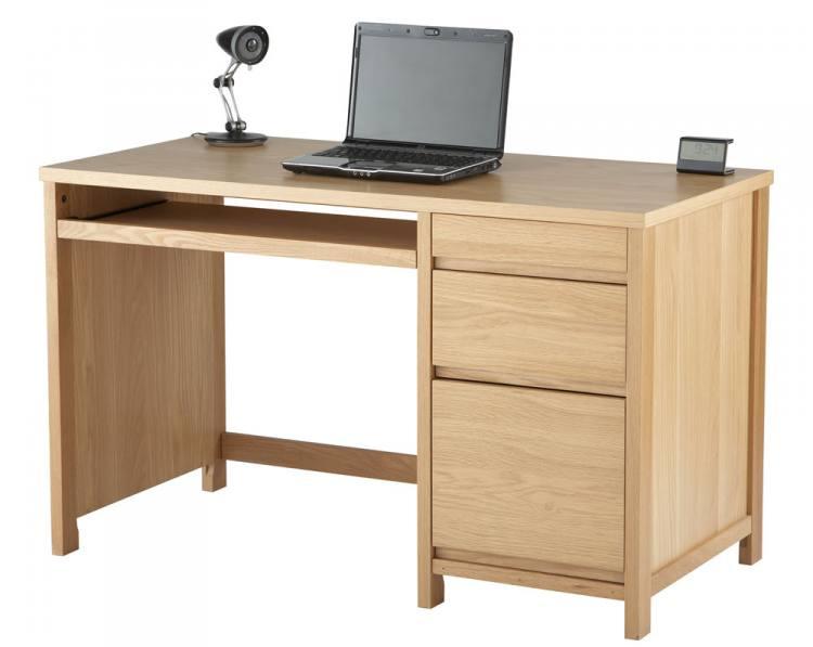 Oak Home Office Desk - Contemporary Computer Desk   Sofa and Home