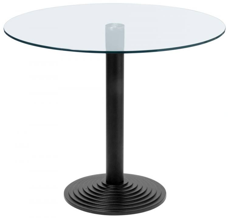 Hnd montpellier glass marble granite circular dining for Cast iron and glass dining table