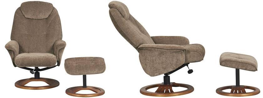 Front U0026 Side View. GFA   Oslo Fabric Swivel Recliner Chair ...