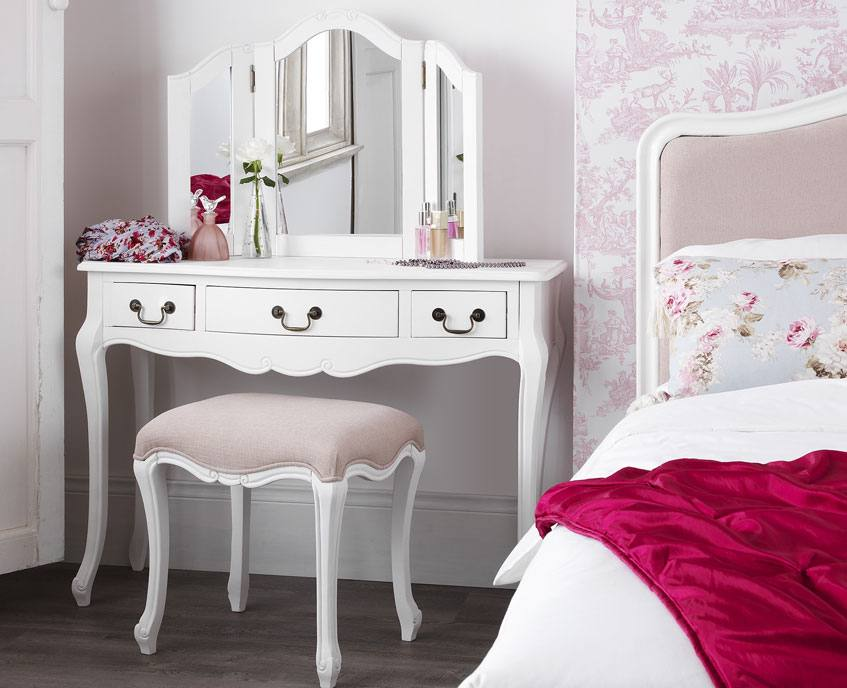 Statement Furniture Juliette Bedroom Range White Painted Matt Finish Dressing