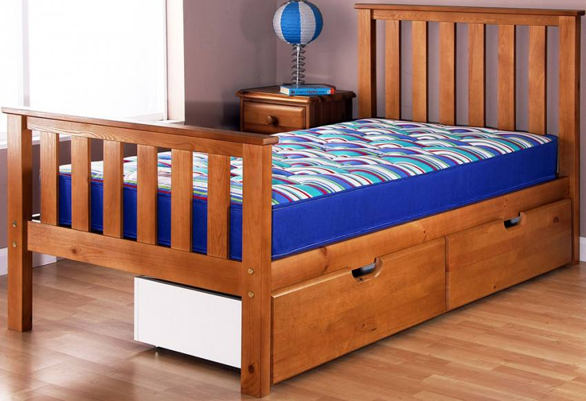 Airsprung Beds Napoli Cinnamon Single Bedstead with High