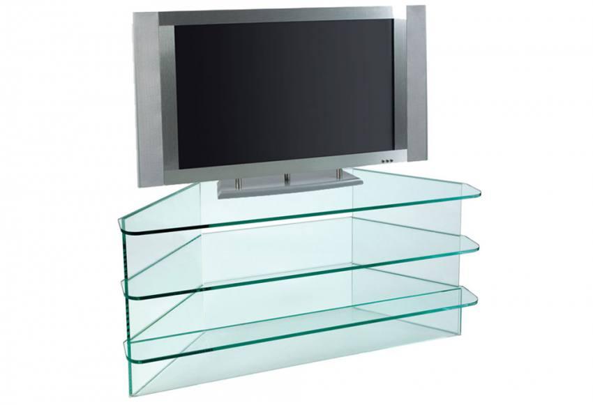 Greenapple Furniture Plasma Large Corner TV Stand 12mm  : 850x5811404745732ClearMainwithTV from www.sofaandhome.co.uk size 850 x 581 jpeg 26kB