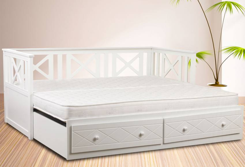 Sweet Dreams Chaise Guest Daybed With Underbed Pull