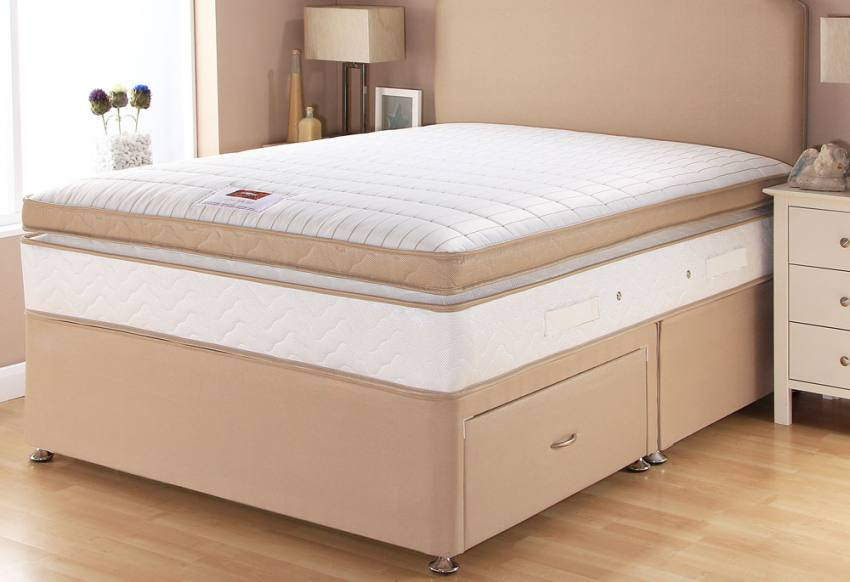 Airsprung beds catalina pocket box top divan beds for Box divan beds