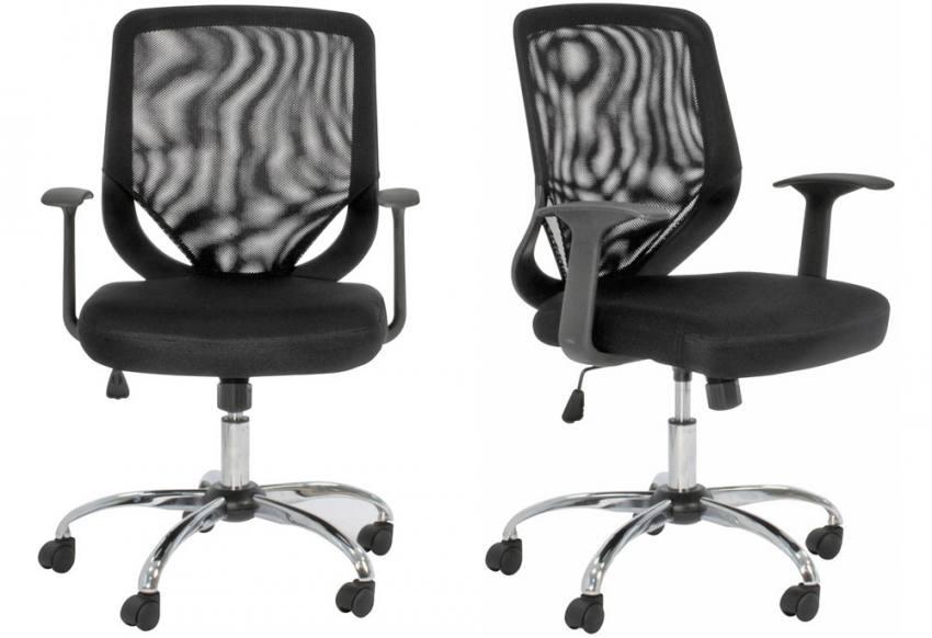 Alphason Atlanta Black Mesh Office Chair Adjustable Operator S