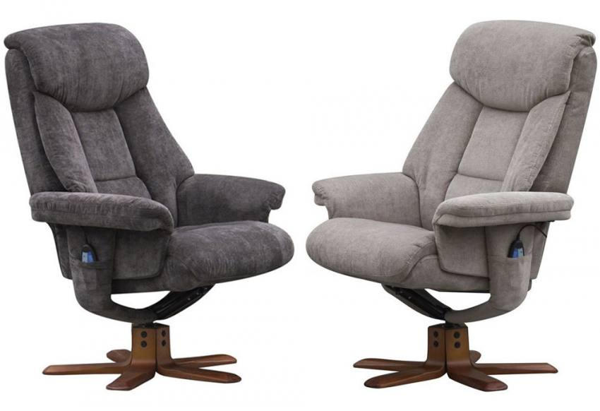 Gfa Exmouth Massage Fully Adjustable Swivel Recliner