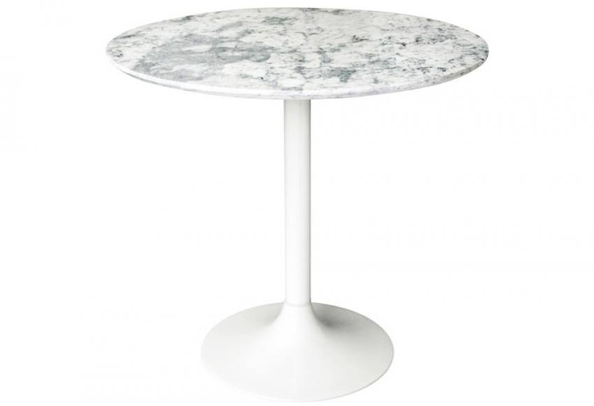 Hnd Genoa Dining Tables Round Marble Tops White Cast