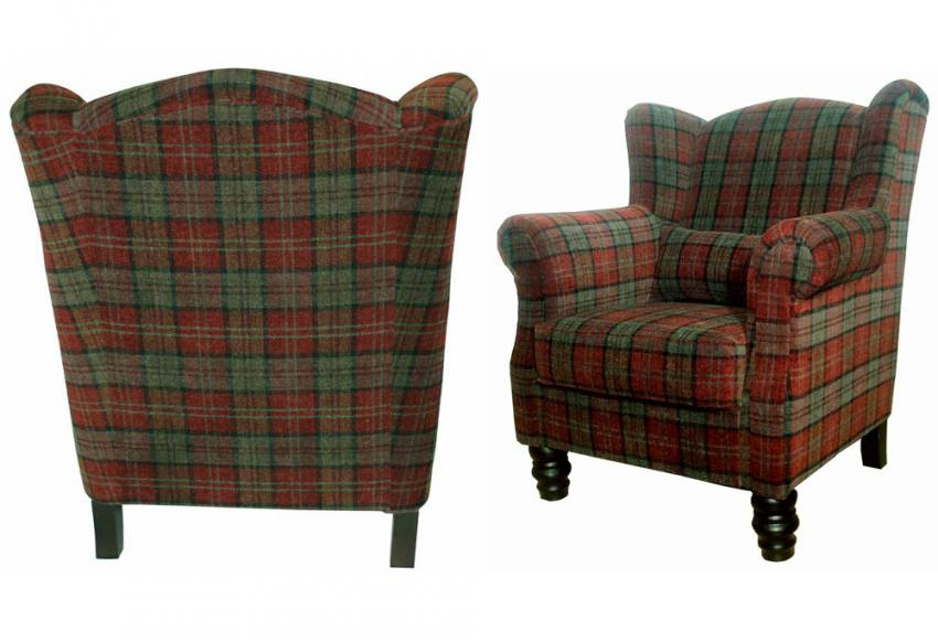 Xyz William Wing Chair Traditional Style Velvet