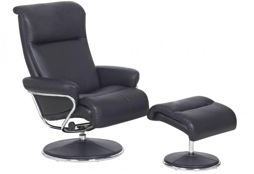 Gfa Zen Swivel Recliner Chair Amp Stool Faux Leather