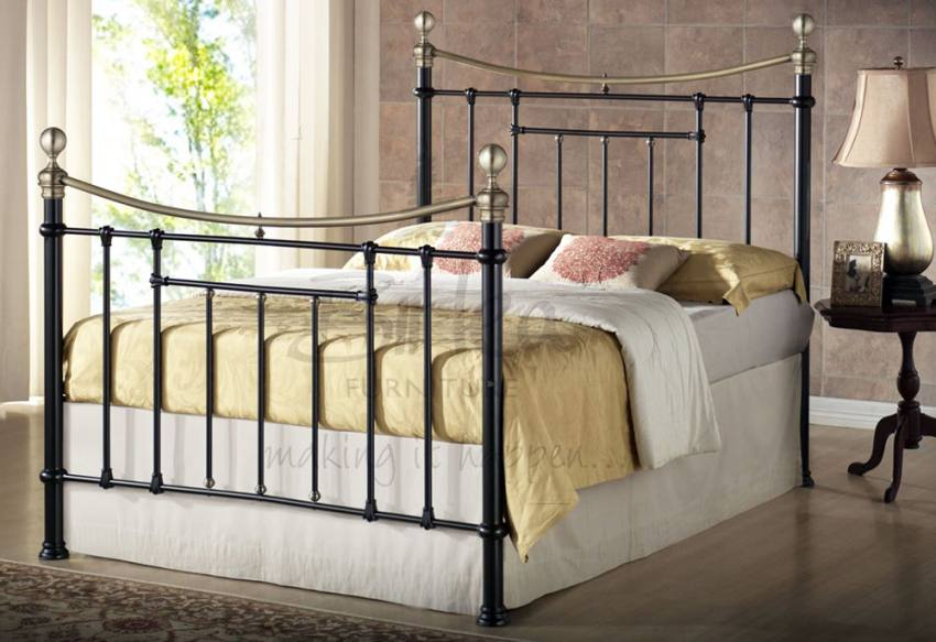 Birlea Furniture Bronte Metal Bed Frames Cream Or