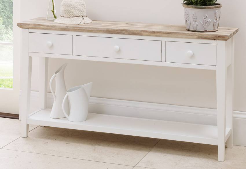 White Painted Furniture statement furniture - florence white matt painted & washed acacia