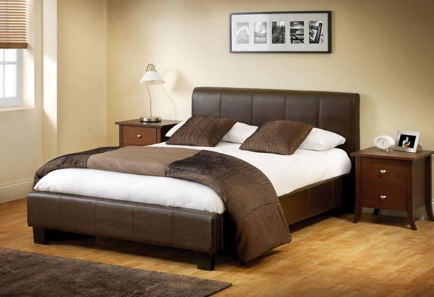 Julian Bowen Vienna Faux Leather Bedroom Storage Bed